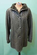 Exklusive Lamm Fell Jacke Gr 44/L Damen grün Leder vintage shearling leicht!
