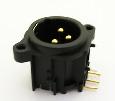 10x Black XLR Male Chassis 3Pin PCB Socket Connector