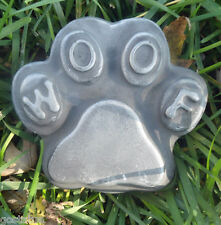 Woof pawprint mold casting mould wax soap plaster cement resin