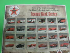 "TEXACO AIRPLANE TRUCK COLLECTOR SERIES ADVERTISEMENT POSTER copy 8-1/2"" x 11"""