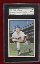 JOHNNY PODRES SGC CERTIFIED Autograph Auto Signed Dodgers World Series Hero 1955