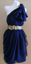 VINTAGE HARAH DESIGNS NAVY COCKTAIL FORMAL CHIFFON 50'S DRESS 6-8-10-12-14-16