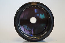 Near Mint Canon New FD NFD 85mm f/1.8 Portrait MF Lens Compact tested NICE