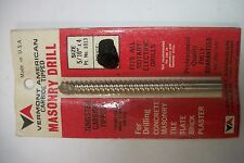 """TUNGSTEN CARBIDE TIPPED MASONRY DRILL 5/16"""" X 4"""" Vermont American USA MADE NEW"""