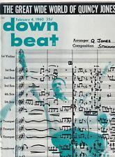 Down Beat Mag Quincy Jones DJ's Dropped February 4, 1960 101219nonr