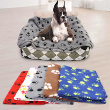 Fleece Paw Print Pet Puppy Dog Cat Mats Dog Blanket Sleeping Bed Sofa Cover