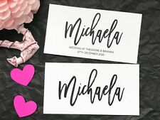 Wedding Name Placecards Personalised Name Escort Cards flat business card style