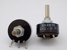 2x Tesla T101 2.2 KOhm 2W Rotary Potentiometer 2.2 KOhm 2K2/K 2W T101