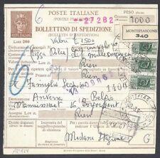 STORIA POSTALE Repubblica 1967 Bollettino Spediz. da Montefiascone a Anversa(E7)