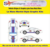 Porsche Cayman S Le Mans Martini Race Rally Graphic Kit 6