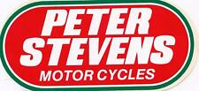 Peter Stevens Motorcycles red, green & white 1980's sticker 16cm long AS NEW
