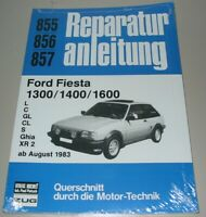 Reparaturanleitung Ford Fiesta 1300 1400 1600 L C GL CL S Ghia XR2 ab 1983 Buch!