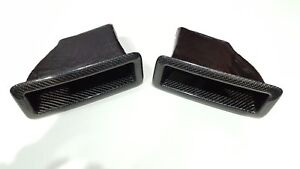 Glossy Carbon fiber front bumper air scoop vent fit for Nissan 1995 GT-R R33