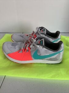 Nike Rival XC Track Spikes Women's Size 8.5 Shoes 904717-036 Pink Grey Turquoise