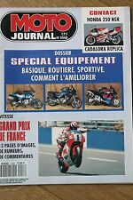 MOTO JOURNAL 1048 SUZUKI GSX-R 750 YAMAHA XJ 600 HONDA CBR 900 RR BMW R100 1992