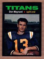 Don Maynard '61 New York Titans AFL Monarch Corona Glory Days #19 mint cond.