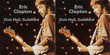 Eric Clapton   Civic Hall Guildford England  2 February 1988 2 CD set