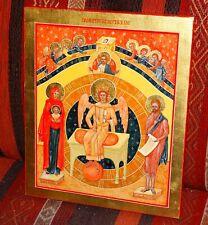 Ikone Gemälde handgemalt Temperafarben auf Holzplatte Heilige Sophia Weisheit