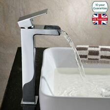 Tall Waterfall Basin Mono Mixer Deck Mounted Bathroom Tap   Ozone