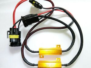 2x H11 / H8 50W Resistors Error Free Canbus System LED DRL Fog Light Spot Bulbs