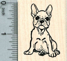 French Bulldog Rubber Stamp  G33508 WM