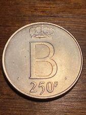 Belgique 250 francs 1976 fl , argent , sup