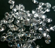 Oval Cut 6 x 4mm White Cubic Zirconia Loose Gemstone AAAAA lot of 10 stones
