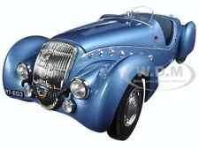 1937 PEUGEOT 302 DARL MAT ROADSTER BLUE METALLIC 1/18 MODEL CAR BY NOREV 184821