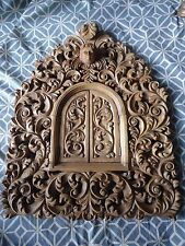 Hand Carved wood Ornate Floral Baroque style Picture Mirror Frame