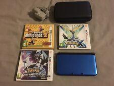 Paquete De Consola Nintendo 3DS XL Azul con 3 Grandes Juegos Pokemon