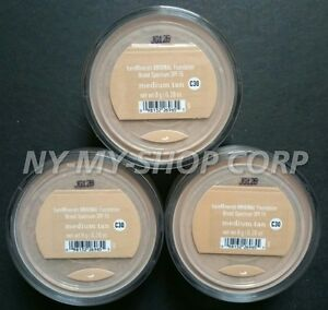 Bare Minerals Escentuals SPF 15 Foundation medium tan C30 8g XL - PACK OF 3
