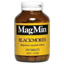 BLACKMORES MAGMIN 500MG HIGHLY BIOAVAILABLE MAGNESIUM 250 TABLETS MAG MIN ENERGY