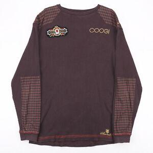 Vintage COOGI  Brown Logo Round Neck Jumper Mens XL