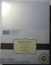 "Recollections Cardstock Paper 8 1/2"" X 11"" 100 Sheets White Gold Shimmer"