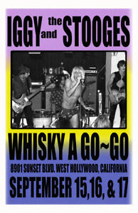 IGGY AND THE STOOGES REPLICA 1973 CONCERT POSTER