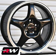 "Chevrolet Corvette Wheels C4 ZR1 Black Rims 17 inch 17x9.5"" fit C4 1988-1996"