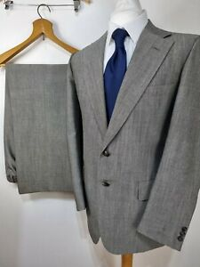 Chester Barrie Grey 2 Piece Suit Blazer Jacket Trousers W34 L31 Aherns Smart