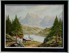 Münchener Maler A. Schaefer dat.1987 Spachteltechnik Berdsee, Rahmen Artprice xx