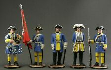 Toy tin soldiers 54 mm. Set of 5 pieces. Swedes. Northern war.  1700-1721