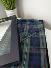 Polo Ralph Lauren Pyjamas Green Blue Plaid Pattern Cotton Pyjama Set Size XL