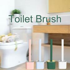 Silicone Toilet Brush Flat Head Flexible Soft Bristle Brush With Toilet Brush Ho