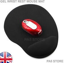 Resto De Pulsera De Gel Negro Ratón Mat Pad comodidad para/Lazer Scroll Mouse óptico Reino Unido