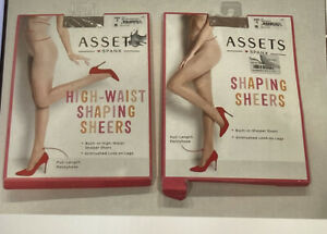 Assets Spanx High Waist shaping shears full length pantyhose Size 2 Beige Nude
