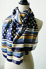 "harve benard by Benard Holtzman Made in Italy Stripes and Floral scarf 62""x14"""