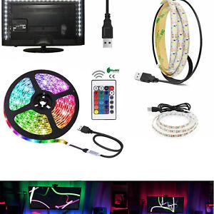 5V USB LED Strip Light 1M 2M 3M RGB TV BackLight Bar Lighting Waterproof RD501