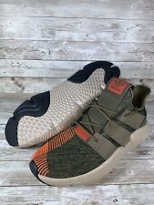 Adidas Prophere Mens sz 11.5 CQ2127 Trace Olive Solar Red Knit Athletic Shoes