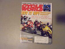 APRIL 1999 CYCLE WORLD MAGAZINE,MIDDLEWEIGHT MAYHEIM,ROBERTS RIDE,VOXAN V-TWIN,K