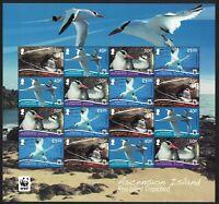 Ascension WWF Red-billed Tropicbird Sheetlet of 16v MNH SG#1155-58