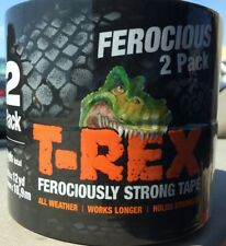 New listing 2 Pack T-Rex Furiously Strong Tape 24 yds total 1.88in x 12yd x 2 48mm x 10,9m