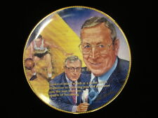 "1989 John Wooden Autographed Commemorative ""They Call Him Coach"" Plate"